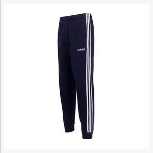 NWT Mens Adidas Navy Blue 3 Stripe Jogger Pants